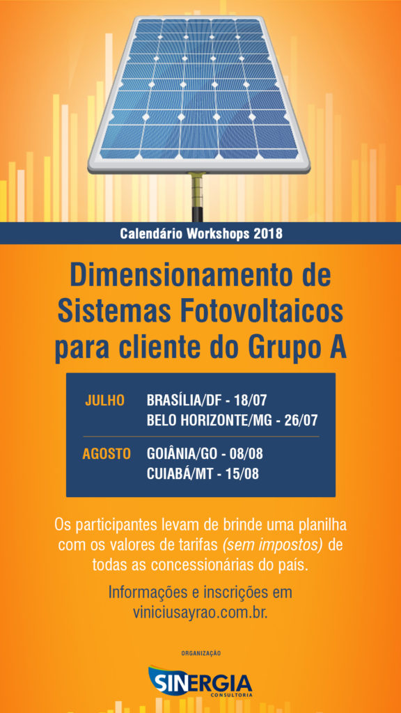 eventos energia solar em jul/ago 2018 - Workshop
